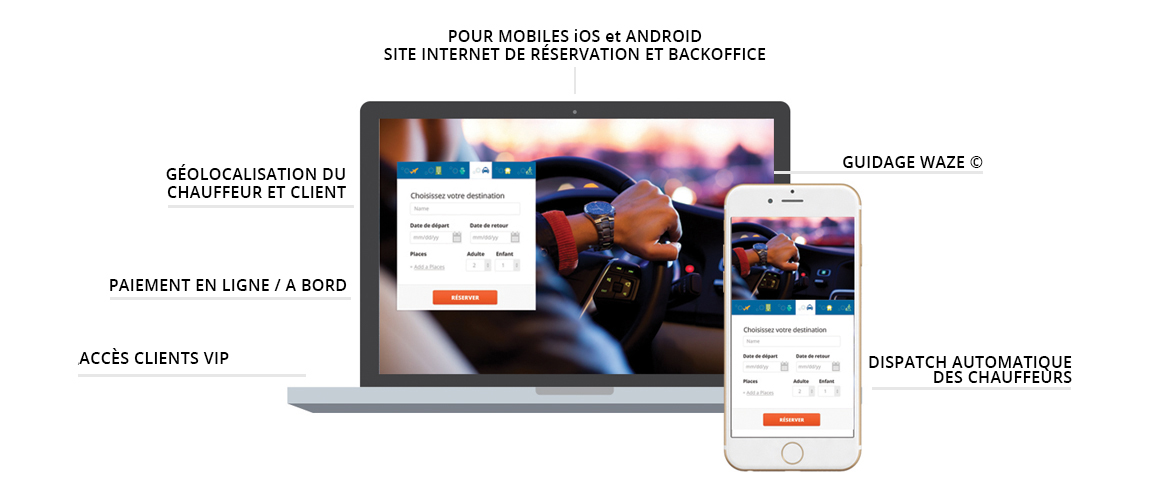 Application mobile VTC TAXI iOS Android