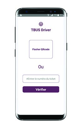 Application mobile TBUS Chauffeur Agent