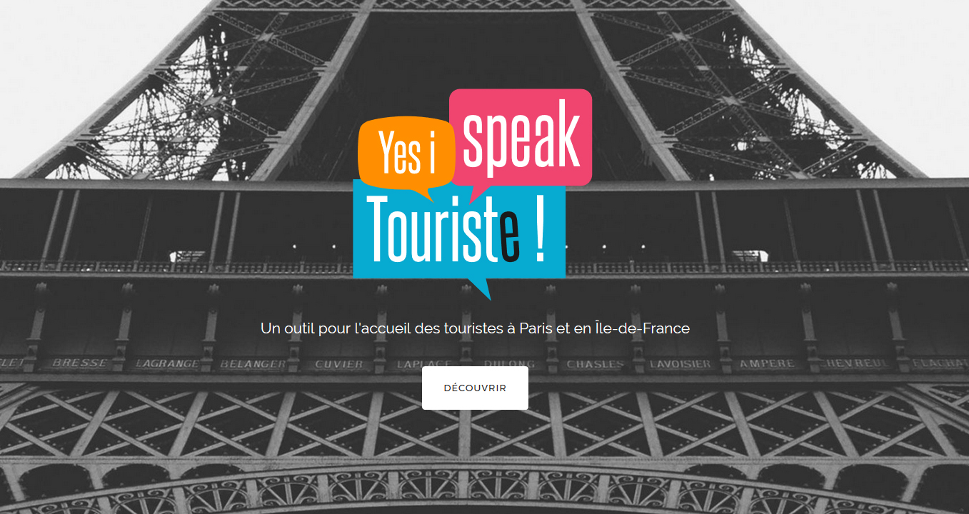 Do You Speak Touriste ? Un dispositif Paris Ile-de-France pour l'accueil des touristes