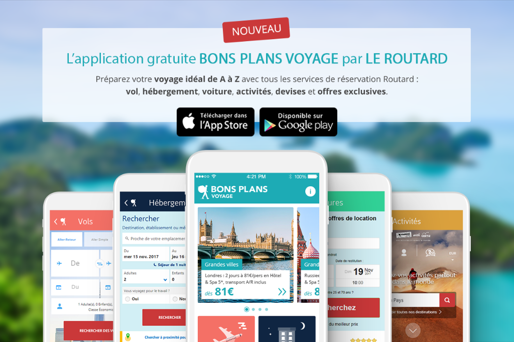 Le Routard lance son application mobile Bons Plans Voyage